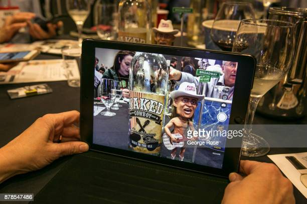 Wine writers and bloggers engage in a fastpaced live speed blogging session during the annual Wine Bloggers Conference on November 12 in Santa Rosa...