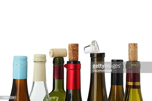 Winebottle tops classic and innovative CLIPPING PATH