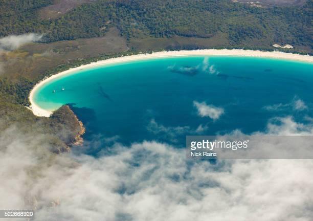 Wineglass Bay at Freycinet National Park on Tasmania