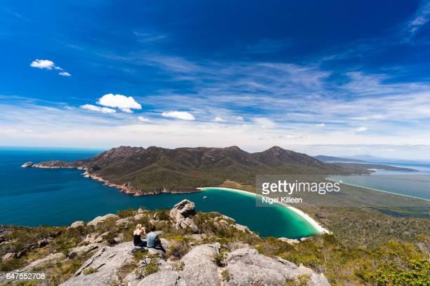 wineglass bay, tasmania - coastline stock pictures, royalty-free photos & images