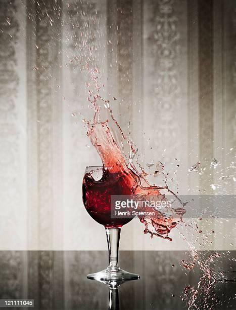 Wineglass exploding