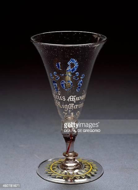 Wineglass with Atzwanger coat of arms TrentinoAlto Adige Italy 18th century Bolzano Museo Civico