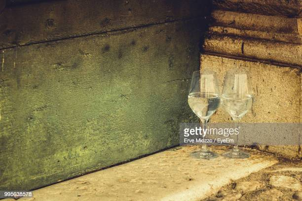 Wineglasses By Wall