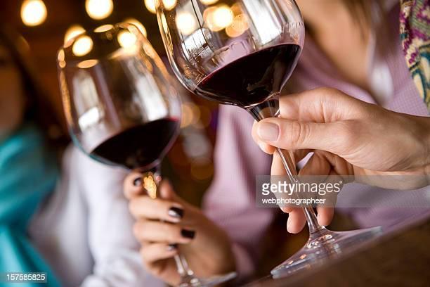 Verres à vin et tire