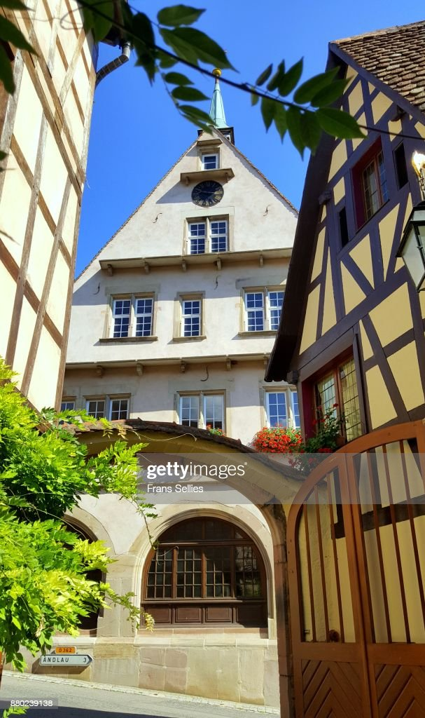 Winery in Mittelbergheim, Alsace, France : Stockfoto