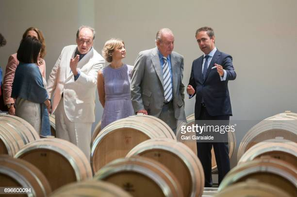 Winery owner Pablo Alvarez Mezquiriz Spain's Agriculture Minister Isabel Garcia Tejerina and King Juan Carlos attend Macan Winery inauguration on...