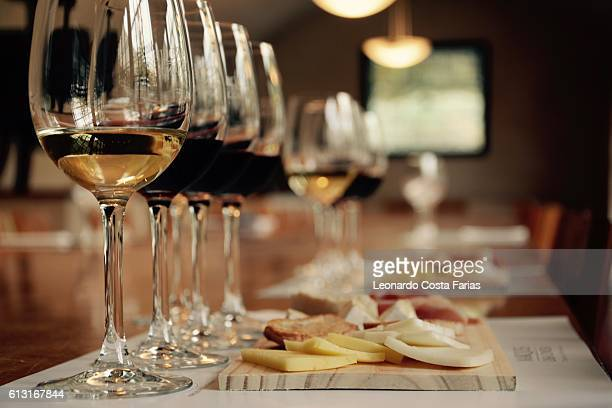 wines tasting - leonardo costa farias stock photos and pictures