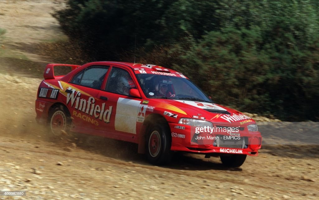 Winfield Mitsubishi Lancer Evo Iv Rally Car News Photo Getty Images