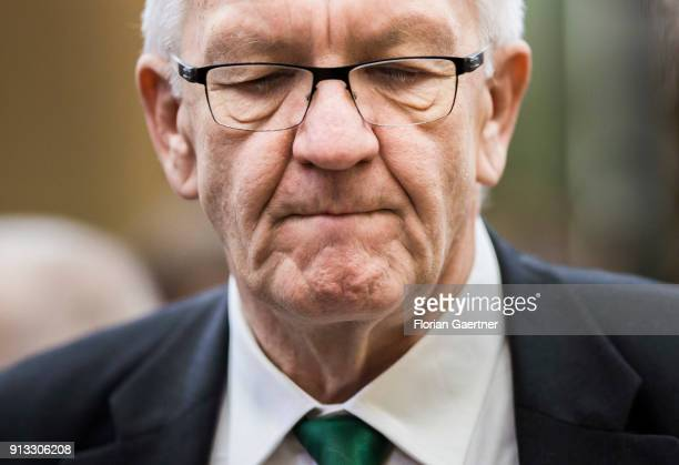 Winfried Kretschmann, Alliance 90/The Greens, prime minister of the German state of Baden-Wurttemberg, is pictured before the meeting of the...