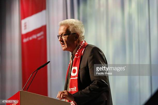 Winfried Kretschmann the MinisterPresident of BadenWürttemberg gives a Bible study at the 35th German Protestant Church Congress The third day of the...