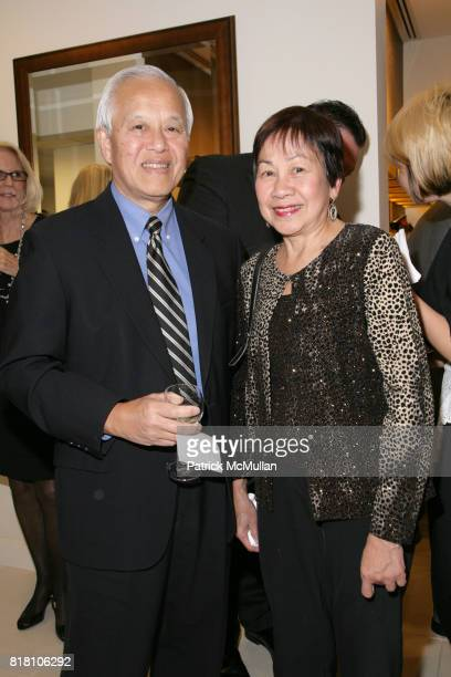 Wing Chu and Gloria Chu attend LEONARD OPTICIANS FLAGSHIP STORE OPENINGS PARTY at 24 West 55th Street on November 18 2010 in New York City