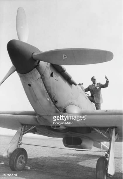 Wing Commander Robert Stanford Tuck of the RAF climbs into the cockpit of a Hawker Hurricane at RAF Henlow in Bedfordshire 18th April 1968 Tuck who...