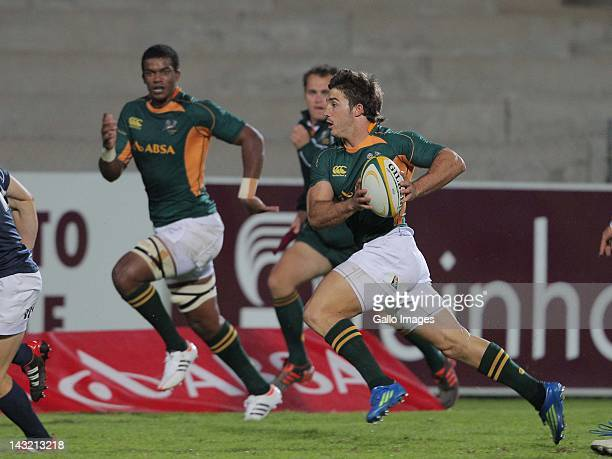 U/20 wing Paul Jordaan during the U20 International match South Africa and Argentina from Danie Craven Stadium on April 21 2012 in Stellenbosch South...