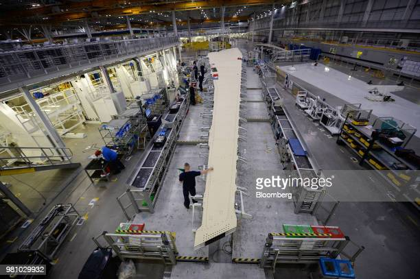 Tom Williams vice president of programs for Airbus SAS pauses during a news conference in Colomiers France on Thursday Jan 17 2013 Airbus SE the...