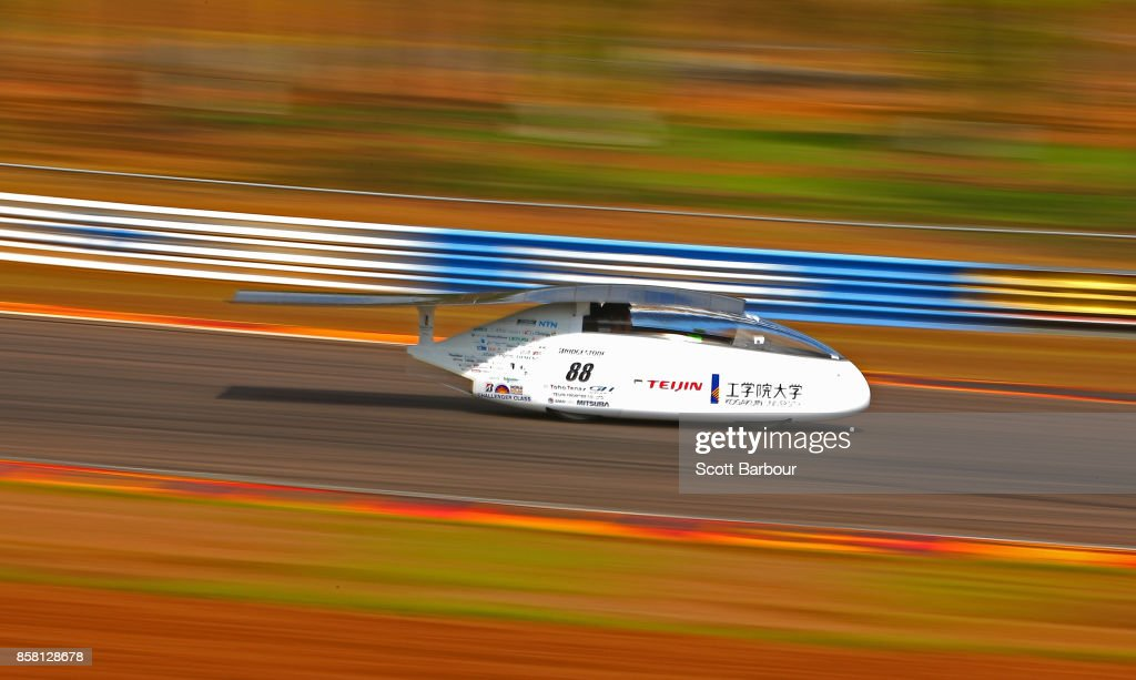 XXX Wing, the car from Japan's Kogakuin University Solar Team is tested on track at the Hidden Valley Motor Sport Complex before competing in the Challenger class ahead of the 2017 Bridgestone World Solar Challenge on October 6, 2017 in Darwin, Australia. Teams from across the globe are competing in the 2017 World Solar Challenge - a 3000 km solar-powered vehicle race through the Australian Outback between Darwin and Adelaide. The race attracts teams from around the world, most of which are fielded by universities or corporations although some are fielded by high schools. The race has a 30-year history spanning thirteen races, with the inaugural event taking place in 1987. The race begins on October 8th with the first car expected to cross the finish line on October 11th.