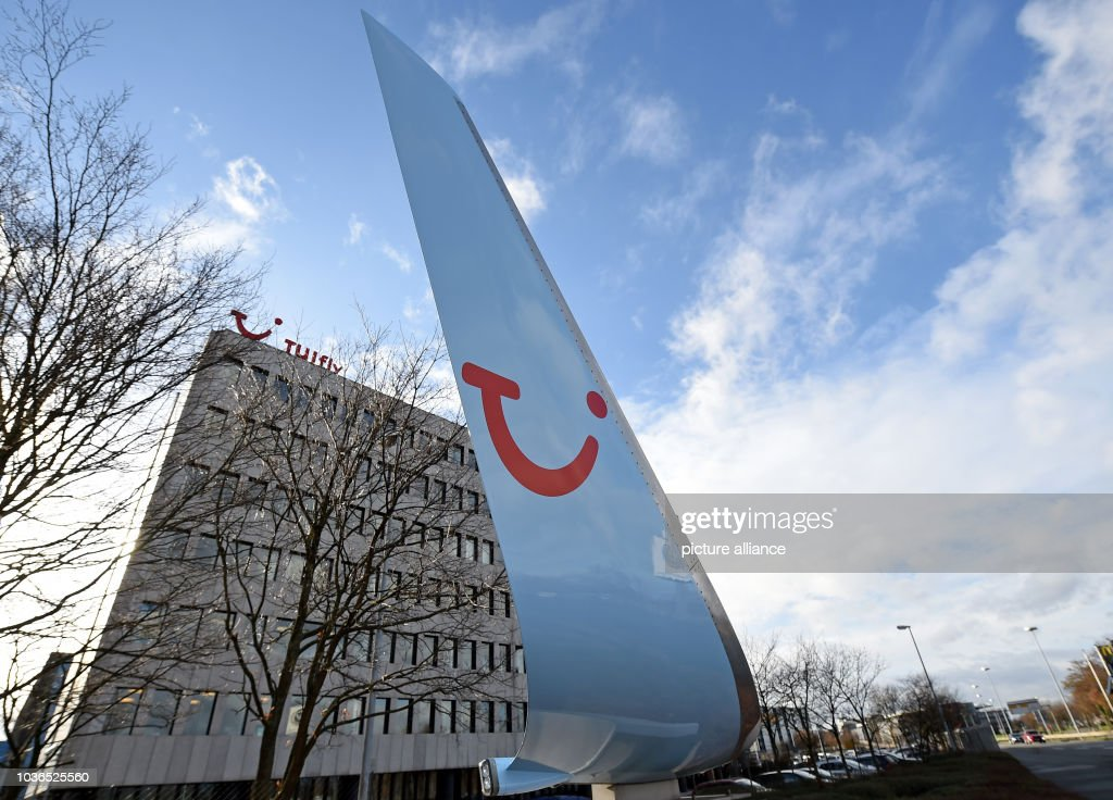 A Wing With The Tui Logo Standing In Front Of Head Office Tuifly At