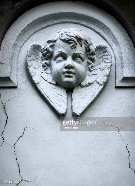 winged angel - gravestone stock pictures, royalty-free photos & images