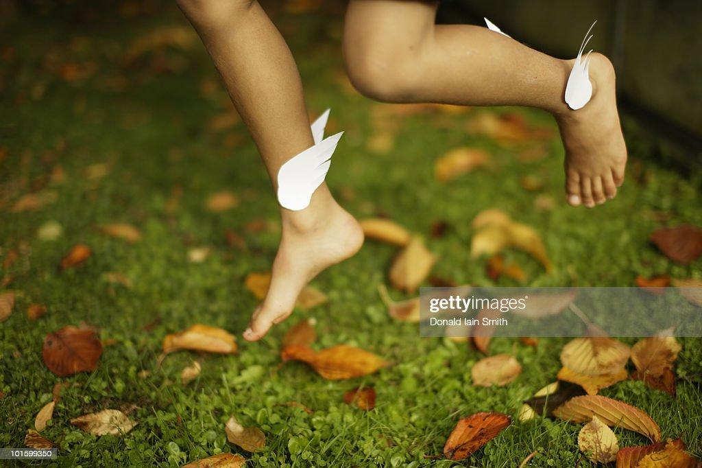 Winged Feet : Stock Photo