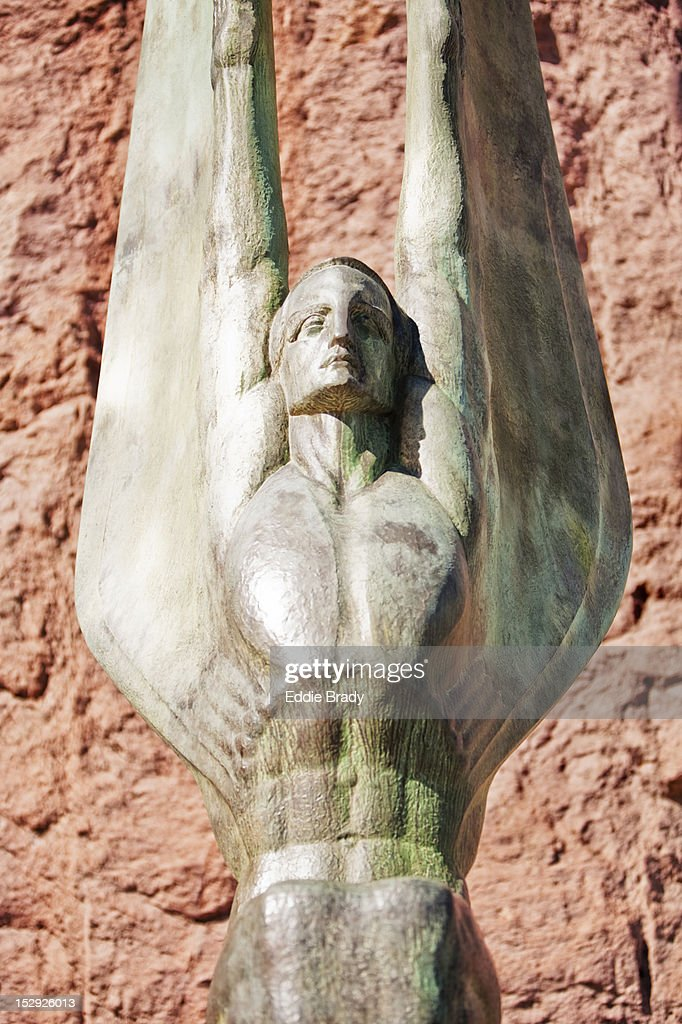 'Winged Figures of the Republic' by Oskar Hansen at Hoover Dam. : Stock Photo