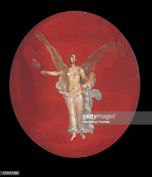 'Winged Victory by unknown artist 4579 1st Century AD ripped fresco 61 x 50 cm Italy Campania Naples National Archaeological Museum Room LXVIII inv...
