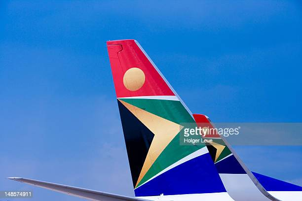 Winglet and tail of South African Airways 737-800 aircraft.
