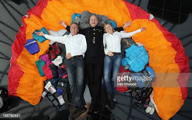 'Wings of Kilimajaro' founder and paragliding pilot Adrian Mcrae Commisioner of Police for the City of London Adrian Leppard and adventurer Squash...