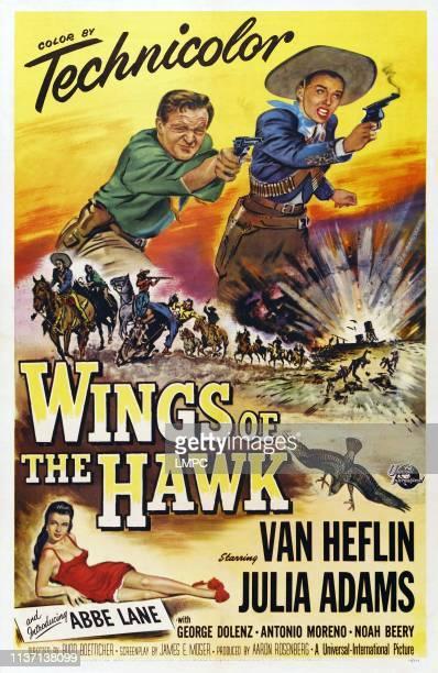 Wings Of The Hawk poster US poster art top from left Van Heflin Julie Adams bottom left Abbe Lane 1953
