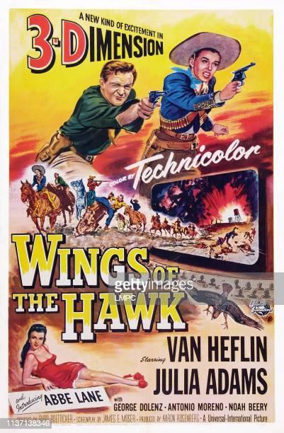 Wings Of The Hawk poster US poster top from left Van Heflin Julie Adams Abbe Lane 1953