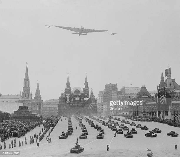 Wings Over MoscowOn May Day Moscow USSR Moscow's May Day bristled with the spirit of militarism One of the features of the day in Red Square the...