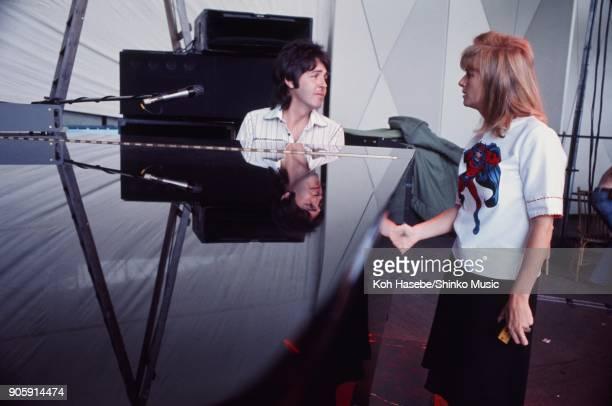 Wings rehearsing at Sydney Myer Music Bowl November 13 Melbourne AUnited Statestralia Paul McCartney Linda McCartney