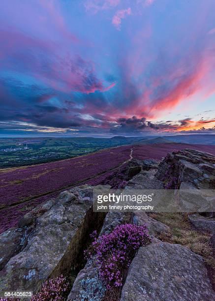 Winhill dusk, Peak District National Park