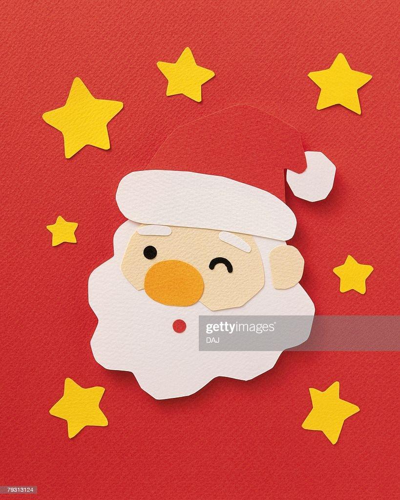 winking santa claus paper craft stock photo - Santa Claus Craft
