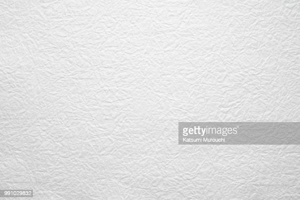Winkled white Washi paper texture background