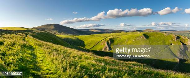 winnats pass and mam tor, peak district, derbyshire, england - hill stock pictures, royalty-free photos & images