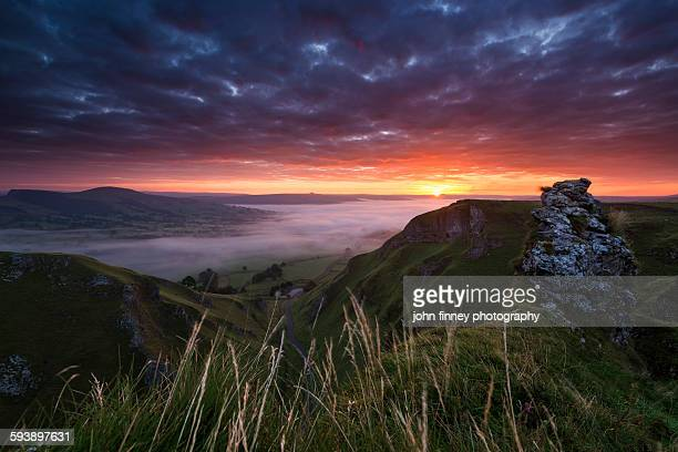 Winnats pass sunrise, Castleton, peak district