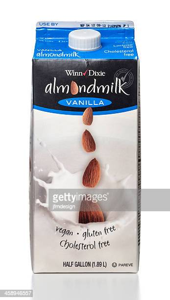 winn-dixie almondmilk vanilla tetrapak or carton container - carton stock photos and pictures