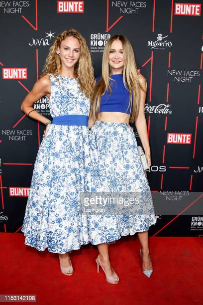 Winner 2019 Simone Kowalski with her dress designer Ilona Matsour attend the Bunte New Faces Night at Father Graham on July 1, 2019 in Berlin,...