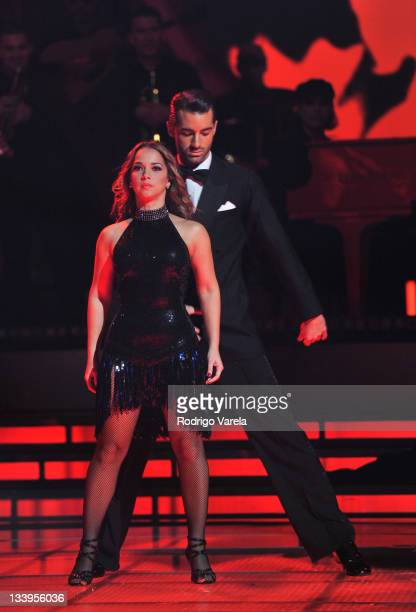 Winner Adamari Lopez dances at Univision's Mira Quien Baila Finale on November 20 2011 in Miami Florida
