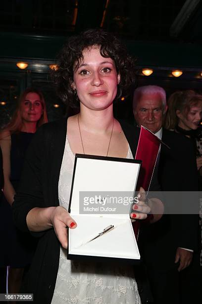 Winner Alice Zeniter attends the La Closerie Des Lilas Literary Awards 2013 7th Edition at La Closerie Des Lilas on April 9 2013 in Paris France