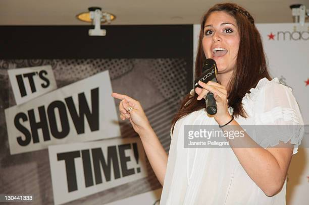 LA Winner Amanda Zuckerman performs at the Sing For Your Tickets Tony Awards Talent Competition at Macy's Herald Square on June 5 2009 in New York...