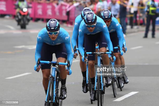 Winner Anacona of Colombia and Movistar Team / during the 2nd Tour of Colombia 2019 Stage 1 a 144km Team Time Trial stage from Medellín to Medellín /...