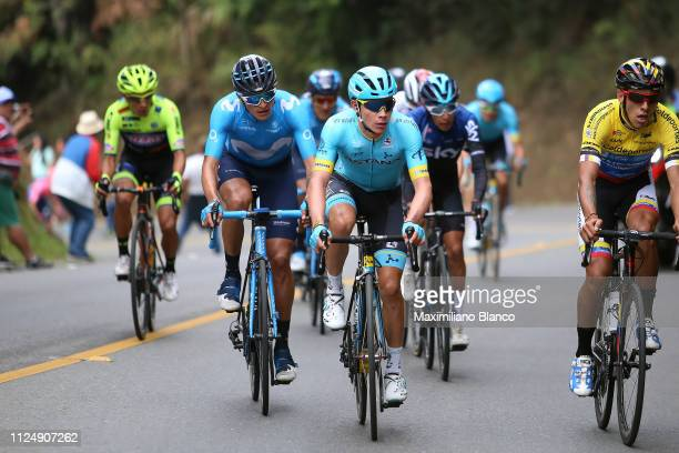 Winner Anacona of Colombia and Movistar Team / Miguel Ángel López of Colombia and Astana Pro Team / during the 2nd Tour of Colombia 2019 Stage 3 a...