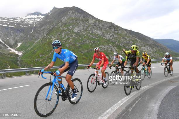 Winner Anacona of Colombia and Movistar Team / Steve Morabito of Switzerland and Team Groupama - FDJ / Tsgabu Gebremaryam Grmay of Ethiopia and Team...