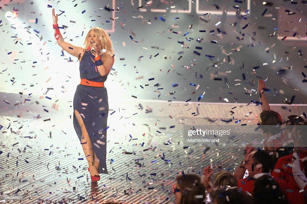 DSDS winner Beatrice Egli during the 'Deutschland sucht den Superstar' Finals on May 11, 2013 in Cologne, Germany.