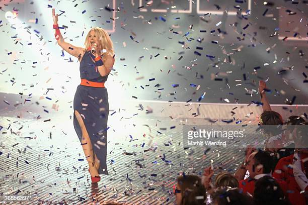 DSDS winner Beatrice Egli during the 'Deutschland sucht den Superstar' Finals on May 11 2013 in Cologne Germany