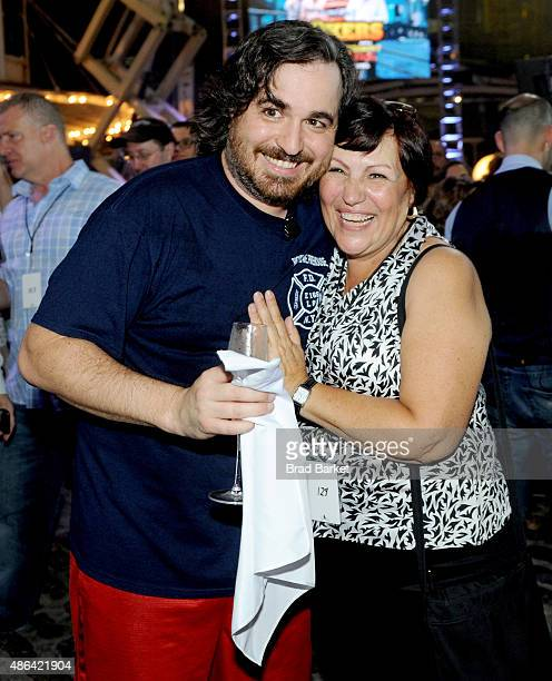 Winner Brian Q Quinn attends the Impractical Jokers 100th Episode Live Punishment Special at the South Street Seaport on September 3 2015 in New York...
