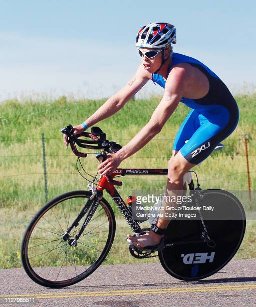 Winner Cameron Dye Finishes The Cycling Leg Of 5430 Sprint TriathlonThe 3rd Annual