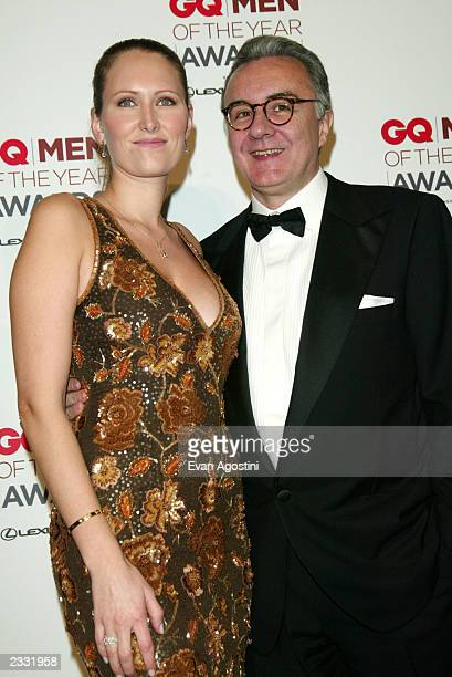 Winner Chef Alain Ducasse with girlfriend Gwenaelle Gueguen in the press room at the 2002 GQ Men Of The Year Awards at The Manhattan Center in New...