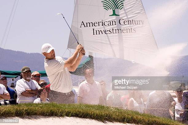 Winner Chris Chandler plays in the American Century Celebrity Golf Tournament at the Edgewood Tahoe Golf Course in Lake Tahoe Nevada on July 15 2007