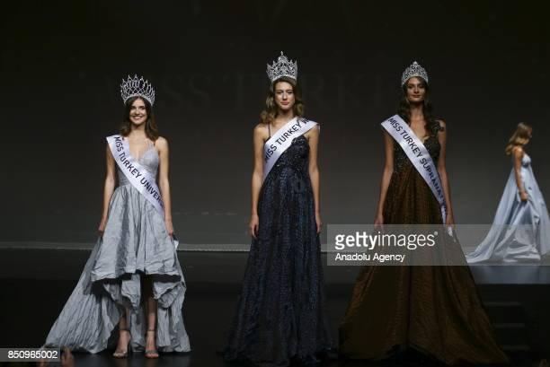 Winner contestants Itir Esen crowned as Miss Turkey World Asli Sumen crowned as Miss Turkey Universe and Pinar Tartan crowned as Miss Turkey...